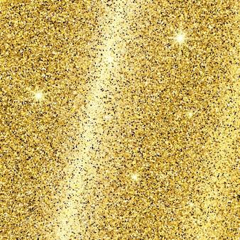 Золотой блестящий фон с золотыми блестками и эффектом блеска. пустое место для вашего текста. векторная иллюстрация
