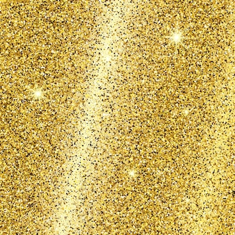 Golden glittering background with gold sparkles and glitter effect. empty space for your text.  vector illustration