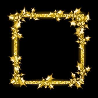 Golden glittering frame