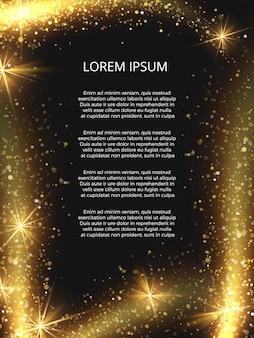 Golden glittering magic sparkle poster