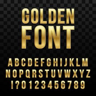 Golden glossy font
