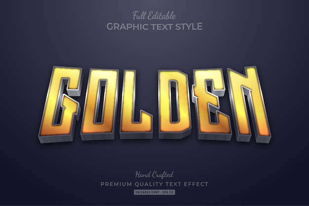 Golden glow editable premium text effect