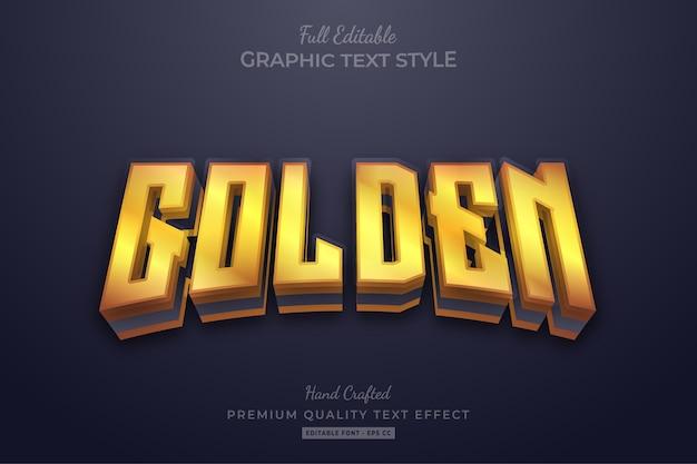 Golden glow editable text effect