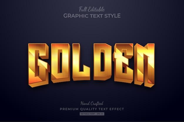 Golden glow editable text style effect premium