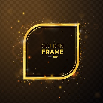 Golden glow frame with text space