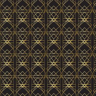 Golden gradient art deco pattern