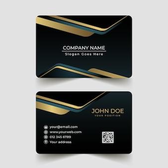 Golden gradientbusiness cards