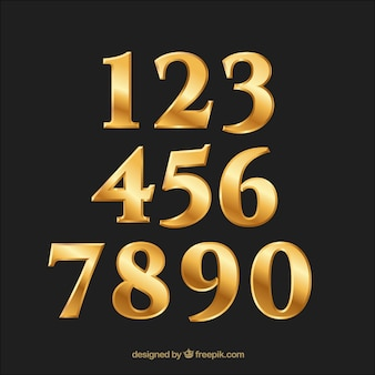 Golden gradient number collection