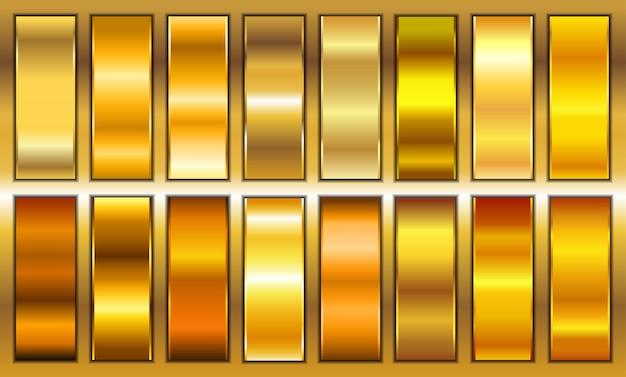 Набор золотых градиентов