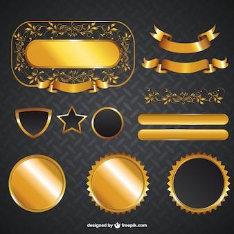 Золотые графические элементы