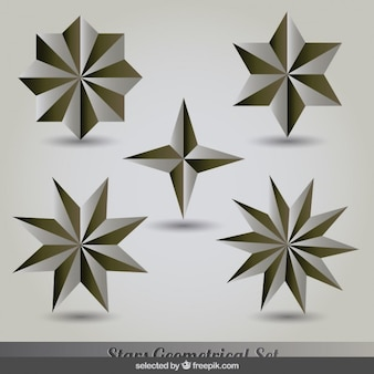 Golden and grey stars set