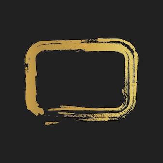 ゴールデングランジヴィンテージ塗装長方形の形。ベクトルイラスト。