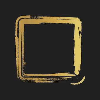 ゴールデングランジヴィンテージ塗装正方形。ベクトルイラスト。
