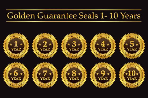 Golden guarantee seals