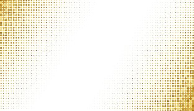白い背景の上の黄金のハーフトーン