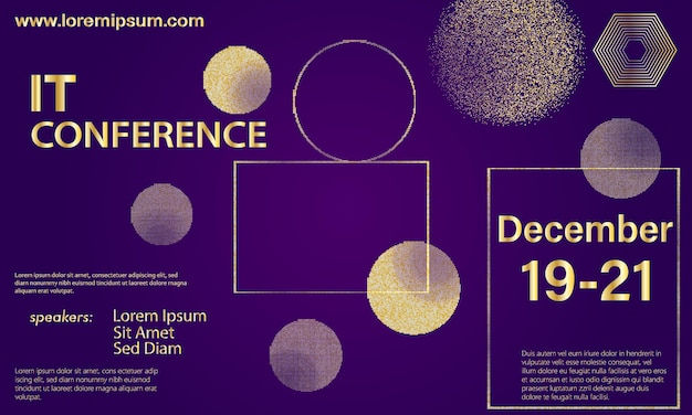 Golden halftone pattern. conference design