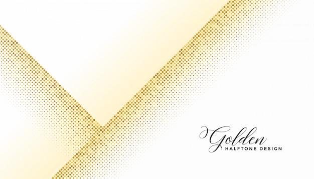 白い背景の上にスタイリッシュなゴールデンハーフトーン