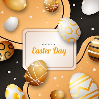 Golden happy easter day event