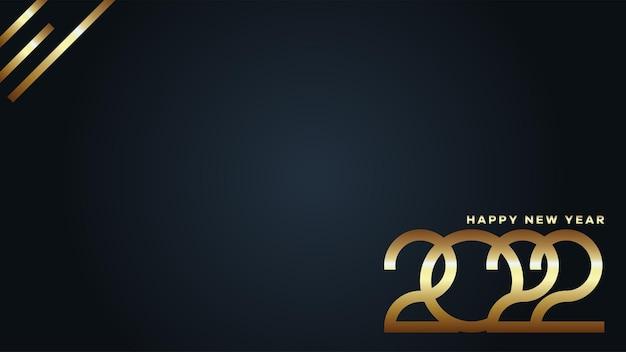 황금 새해 복 많이 받으세요 2022 배경입니다. 2022 텍스트 벡터 인사말, 초대장, 배너 또는 배경에 적합한 디자인 그림입니다.