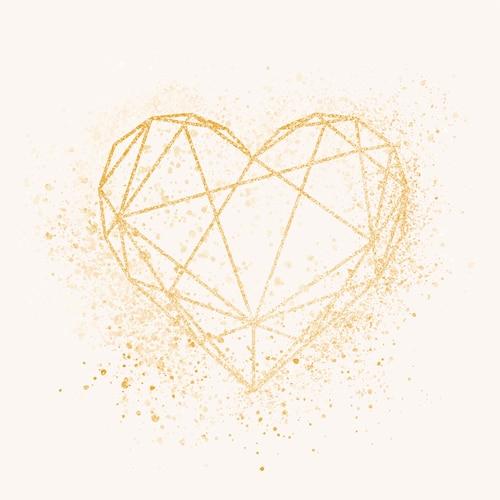 Golden heart badge