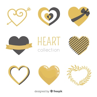 Golden heart collection