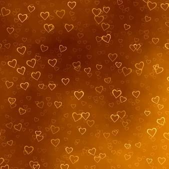 Golden hearts texture
