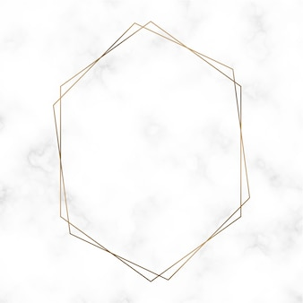 Golden hexagon frame template