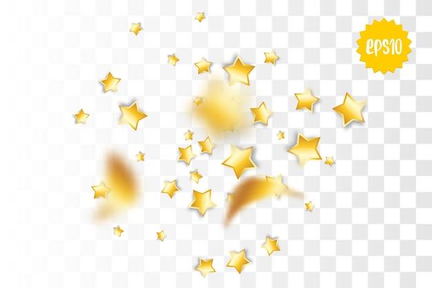 Золотой праздник полосы серпантин конфетти случайное падение реалистичный 3d вектор