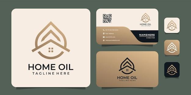 Golden home oil logo design inspiration.