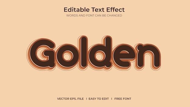 Golden illustrator editable text effect template design