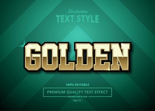 Golden illustrator text effect