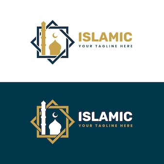 Golden islamic logo in two colors