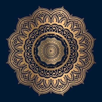 黄金のイスラム模様のマンダラ