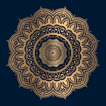 Golden islamic pattern mandala