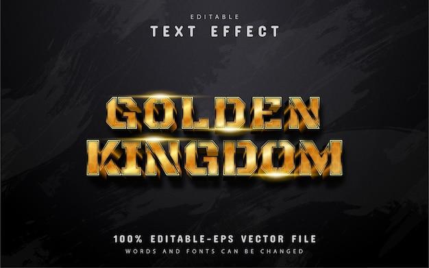 Golden kingdom text effect