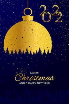 Golden lamp decoration exclusive merry christmas and happy newyear