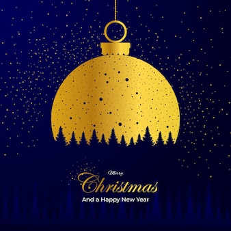 Golden lamp decoration merry christmas and happy new year