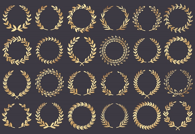 Golden laurel wreath. movie festival awards, winner actress awarded, cannes film leaf symbol