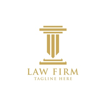 Golden law firm logo design template