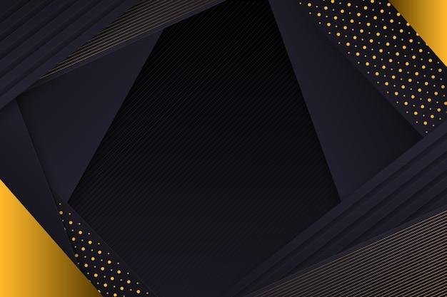 暗い紙の背景に金色の層状の詳細