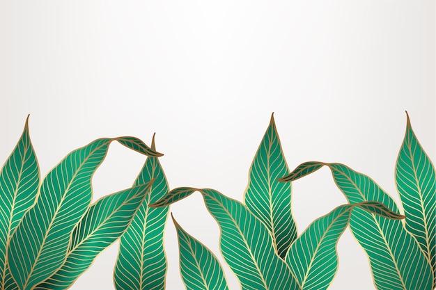 황금 잎 배경