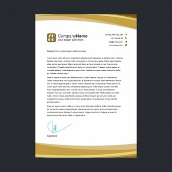 Golden letterhead template