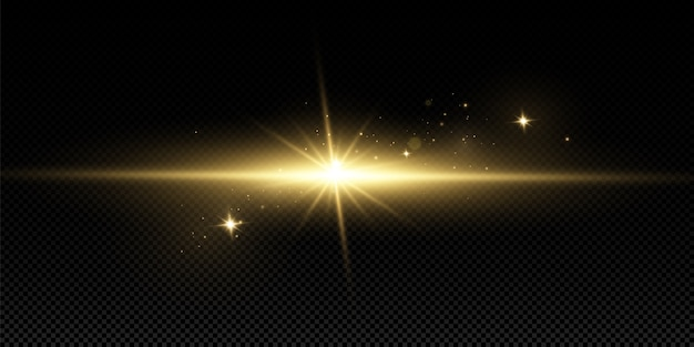 Золотой световой эффект. абстрактные лазерные лучи света. хаотичные неоновые лучи света.