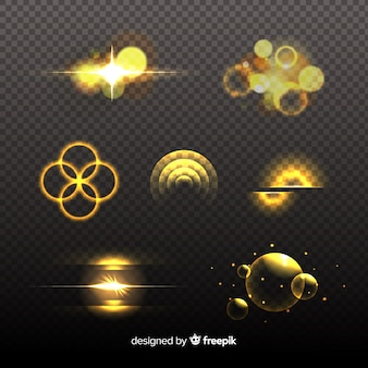 Golden light effect collection design
