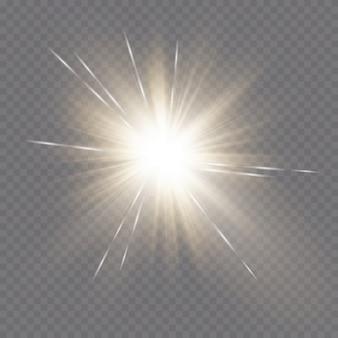 黄金の光の効果。