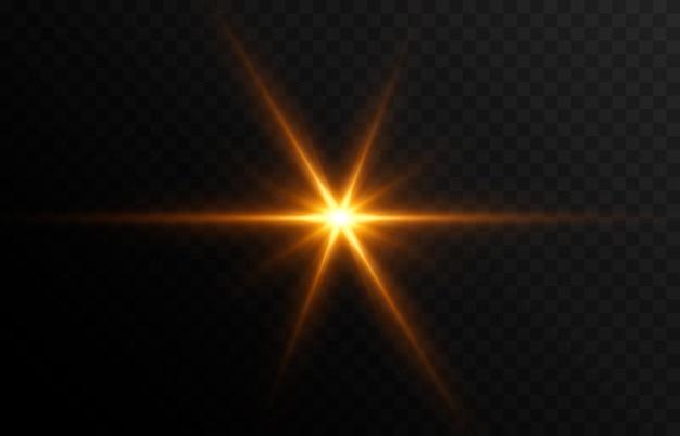 Golden light a flash of light a magical glow sun sun rays png light png vector image