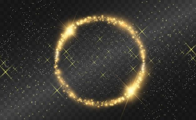 黄金の光フレームとs。美しいフレーム。ライト。