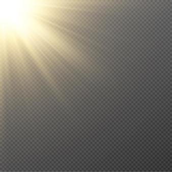 Golden light. sun, sun rays, dawn, star, flare png. golden star.