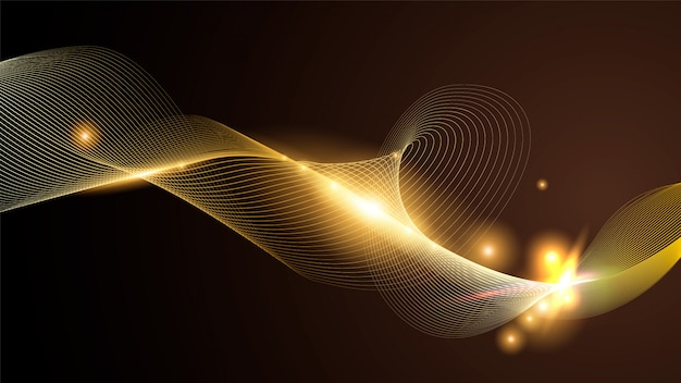 Golden line abstract background