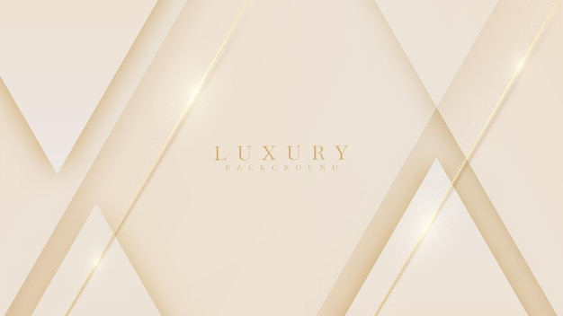 Golden line luxury on cream pastel color background, illustration from vector about modern template design that feels precious and expensive.